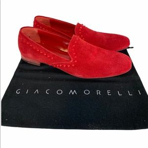 Giacomorelli Studded red sole loafers